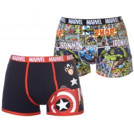 Spodní prádlo Character 2 Pack Boxers Mens Marvel