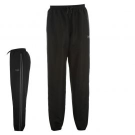 Tepláky Lonsdale 2 Stripe Woven Tracksuit Bottoms Mens Black/White