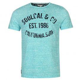 Tílko SoulCal AOP Flock T Shirt Mens Blue