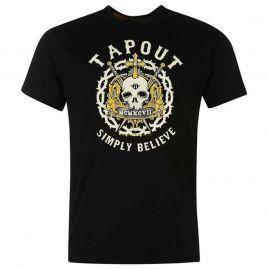 Tílko Tapout Print T Shirt Mens Black
