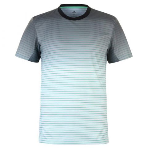 Tričko adidas Melbourne Stripe T Shirt Mens Hi-Res Green