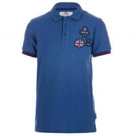 Tričko Ben Sherman Infant Boys Mod Badge Polo Shirt Blue