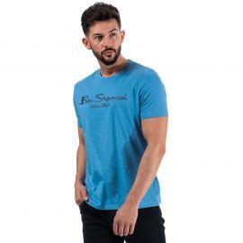 Tričko Ben Sherman Mens Large Logo Script T-Shirt Light Blue