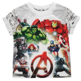 Tričko Character Short Sleeve T Shirt Boys Avengers