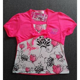 Tričko dívčí  růžová