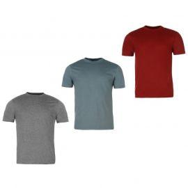 Tričko Donnay 3 Pack T Shirts Mens Burg/StBlu/Char