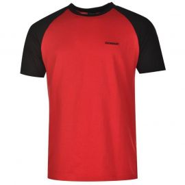 Tričko Donnay Raglan T Shirt Mens Red/Black