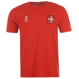 Tričko FIFA Switzerland Core T Shirt Juniors Tomato Red