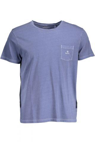 Tričko GANT tričko s krátkým rukávem BLU
