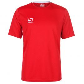 Tričko Sondico Fundamental Polyester Football Top Mens Red/White