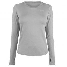 USA Pro Long Sleeve T Shirt Ladies Grey Marl